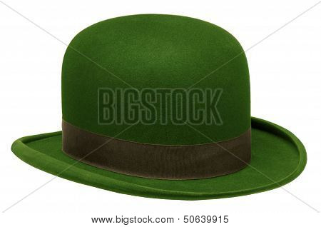 Green Bowler Or Derby Hat
