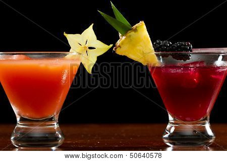 Tropical Fruit Cocktails