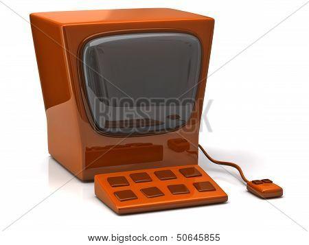 Retro orange computer