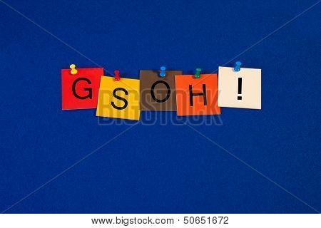 Gsoh - Good Sense of Humor