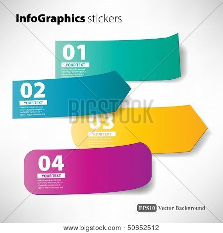 stickers infographic