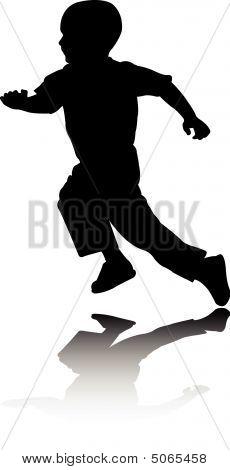 Boy Running.