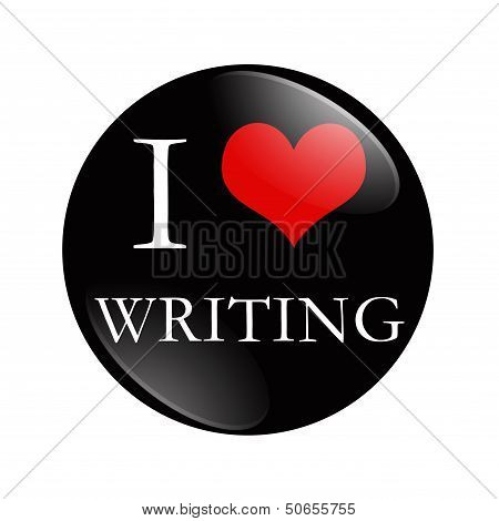 I Love Writing Button