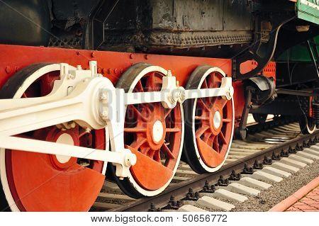 Locomotive wheels.