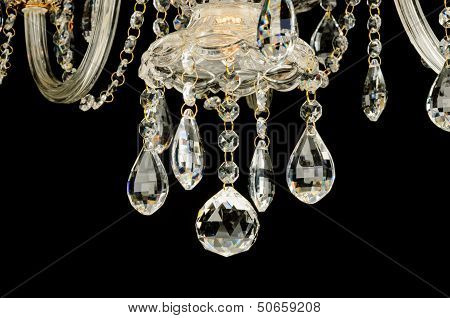 Contemporary glass chandelier crystals