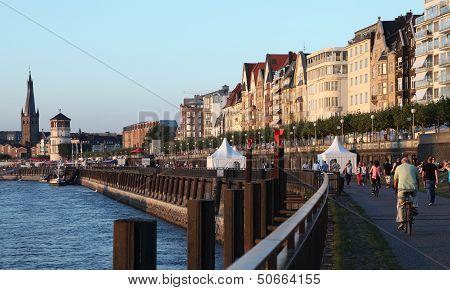 Rhine Promenade in Dusseldorf