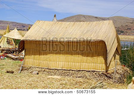 House on Titicaca lake Peru