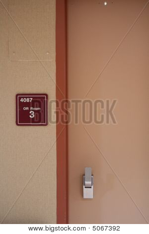 Operating Room Door