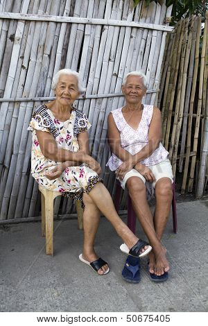 Two Elderly Filipino Women