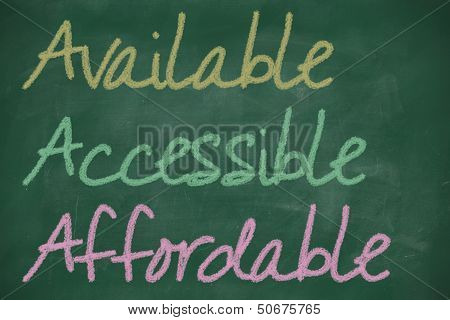 Aaa For Available, Accessible And Affordable