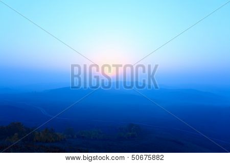 Grassland In Sunrise