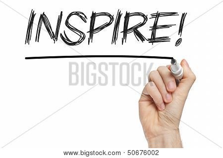 Inspire Handwritten On Blackboard