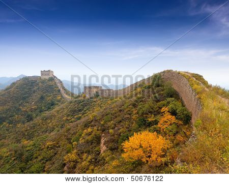 The Great Wall Autumn Scenery