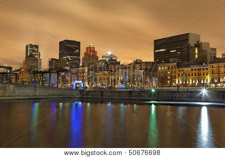 Montreal Night Skyline