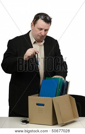 Fired man has exactly one hour to collect his personal belongings