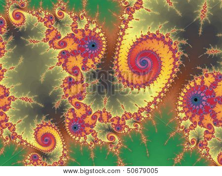 Patterned fractal background with spial
