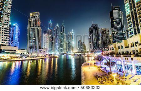 Cityscape in Dubai Marina, Vereinigte Arabische Emirate