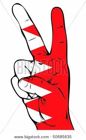 Peace Sign of the Bahraini flag