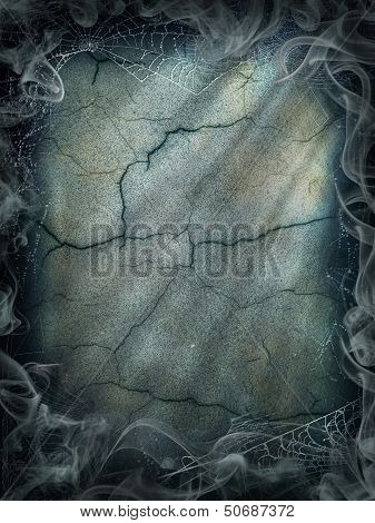 Halloween magic smoke background magical dark cobweb