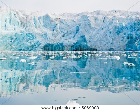 Glacier With Reflection