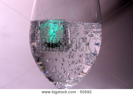 Green Glow In The Glass