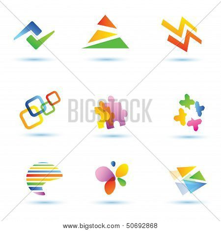 Set Of Abstract Vector Icons