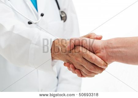 Hands Shaking With Doctor