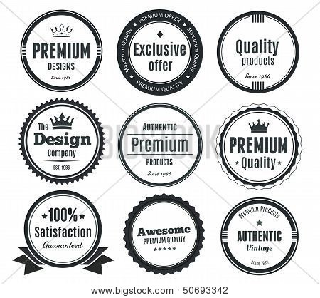 Nine Scalable Vintage Badges