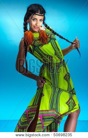 Multiethnic Girl Posing, Dancing.