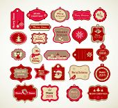 stock photo of christmas wreath  - Christmas set  - JPG
