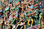 picture of meenakshi  - detail of meenakshi temple in madurai india - JPG