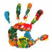 Постер, плакат: Разноцветные ручной печати