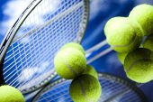 stock photo of slam  - Tennis Ball - JPG