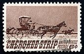 Postage Stamp Usa 1968 Opening Of The Cherokee Strip