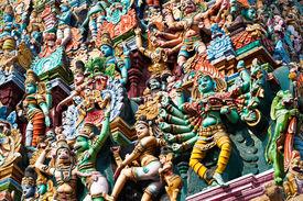 picture of meenakshi  - detail of meenakshi temple in madurai india - JPG