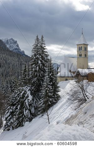 Church In Mazzin Di Fassa