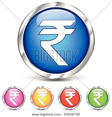 Chrome Rupee Icons