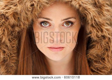 Young Model Glamor Portrait with Heterochromia Eyes