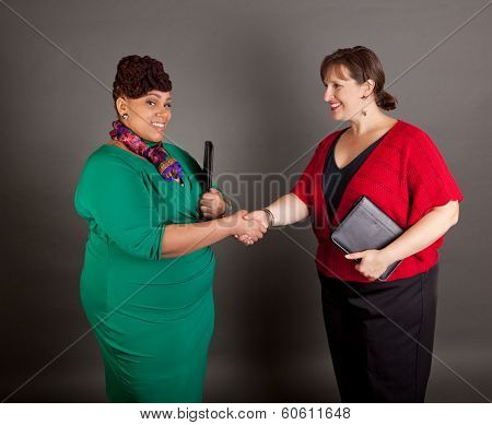 Confident Mature Plus Size Buisiness Women
