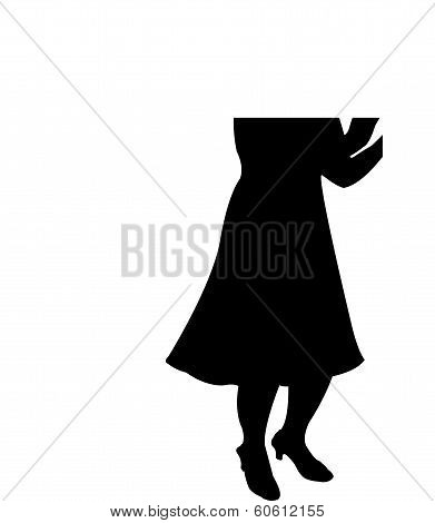lady clapping silhouette vector