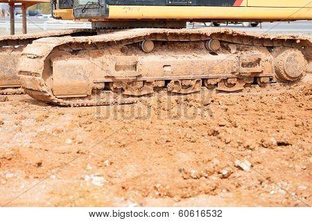 heavy construction equipment in dirt