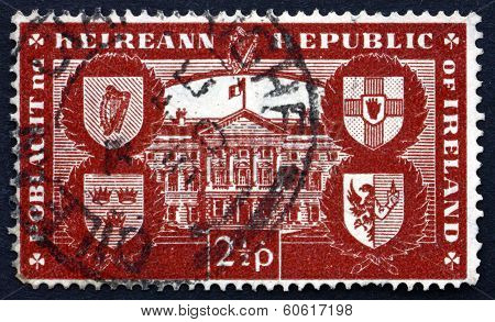 Postage Stamp Ireland 1949 Leinster House, Dublin