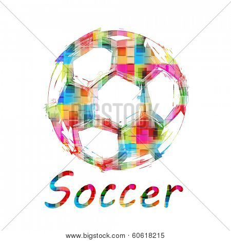 Grunge Color Soccer Ball, easy all editable