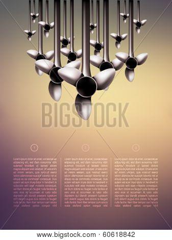 vector turbines illustration