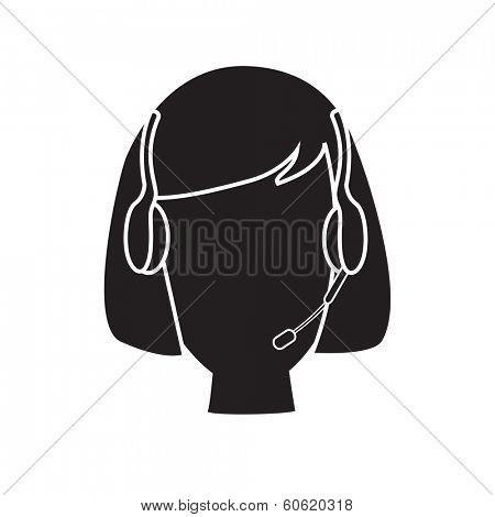 Telephone support vector illustration