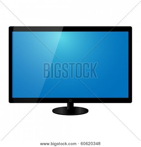 Flat screen tv vector illustration