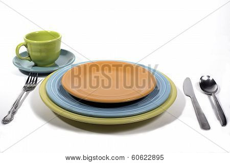 Colorful set of plates