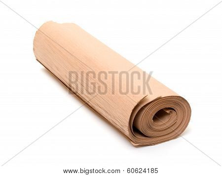 Twisted Into Roll Brown Wrapping Paper