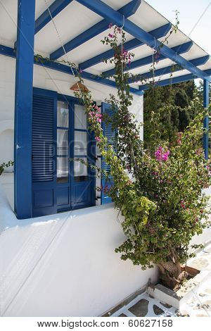 Balcony In A Villa On Paros Island