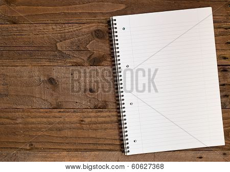 Lined A4 Notebook Backdrop